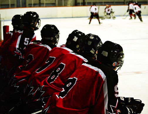 players in the think box (bench)