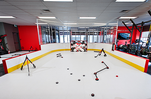 off ice hockey training area